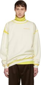 Eckhaus Latta Off-White Hand-Dyed Sweatshirt