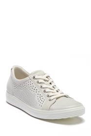 ECCO Soft 7 Perforated Leather Sneaker