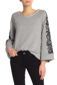 Seven7 French Terry Bell Sleeve Top
