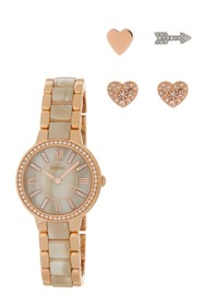 Fossil Women's Virginia Crystal Bracelet Watch & E