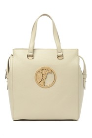 Versace Collection Pebbled Leather Tote Bag