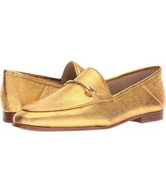Sam Edelman Exotic Gold Soft Crinkle Metallic Leat