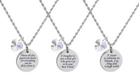Pink Box Inspirational Disc Necklace Made with Cry