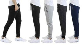 Men's French Terry Joggers With Zipper Pockets (4-