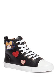 LOVE Moschino Scarpad Faux Leather High Top Sneake