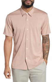 Theory Incisive Silk & Cotton Short Sleeve Sport S