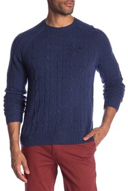 Brooks Brothers Cable Knit Merino Wool Sweater