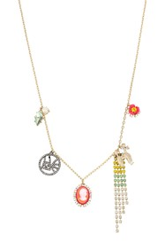 Betsey Johnson Long Charm Necklace