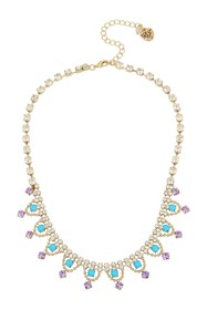 Betsey Johnson Turquoise Stone Frontal Necklace