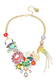Betsey Johnson Charm Statement Necklace