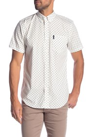 Ben Sherman Polkadot Short Sleeve Sport Fit Shirt