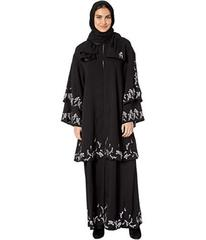 Juicy Couture Floral Embroidered Abaya