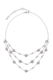 Givenchy Frontal Triple Row Crystal Necklace