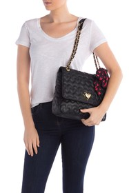 Betsey Johnson Quilted Heart Shoulder Bag with Sca