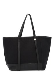 Christopher Kon Canvas and Leather Tote