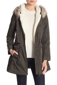 French Connection Faux Fur Lined Parka
