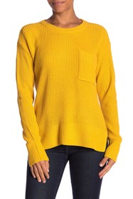 Sanctuary Shaker Pocket Crew Neck Sweater