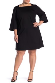 Lafayette 148 New York Square Neck Shift Dress (Pl
