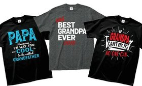 Men's Grandpa Humor Tee. Extended Sizes Available.