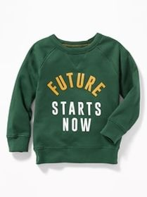 Graphic Crew-Neck Raglan Sweatshirt for Toddler Bo