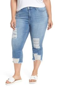 Seven7 High Rise Distressed Crop Jeans (Antelope)