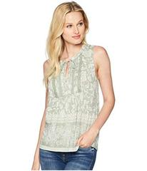 Lucky Brand Sleeveless Lace Mix Top