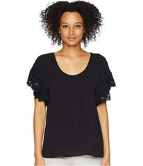MICHAEL Michael Kors Scallop Edge Short Sleeve Top