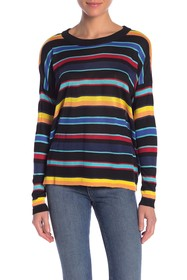 Poof Boxy Striped Pullover Sweater