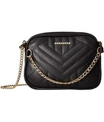 Rampage Quilted Crossbody with Chain Front Detail