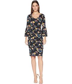 Nicole Miller Bell Sleeve Jersey Dress
