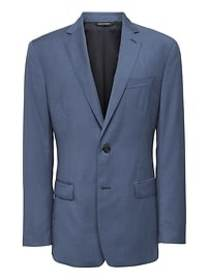 Slim Blue Italian Wool Suit Jacket