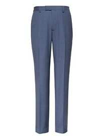 Slim Blue Italian Wool Suit Pant