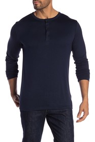 Theory Activate Long Sleeve Henley Tee