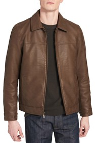 Dockers James Faux Leather Open-Bottom Jacket