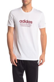 adidas Short Sleeve Front Graphic Print Tee