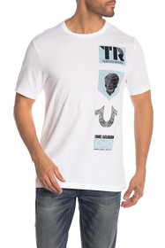 True Religion Short Sleeve Front Graphic Print Tee