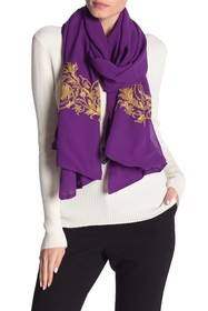 Versace Embroidered Silk Scarf
