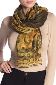 Versace Printed Woven Square Scarf