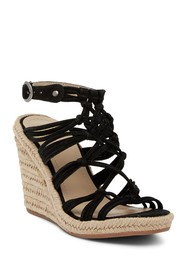 Johnston & Murphy Mindy Braided Ankle Strap Wedge