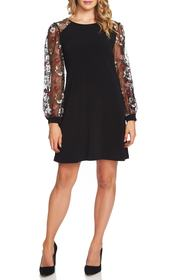 CeCe by Cynthia Steffe Embroidered Sleeve A-Line D