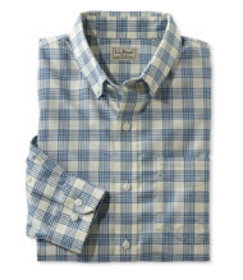 Men's Easy-Care Chambray Shirt, Traditional Fit Pl