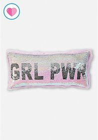 Girl Power Flip Sequin Pillow