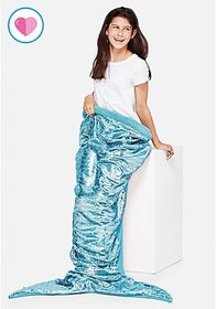 Aqua Flip Sequin Mermaid Tail Blanket