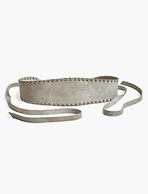 Metallic Stitched Belt