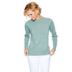 Carolyn Taylor Solid Mock Neck Sweater with Zipper