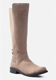 Stud Stretch Knee High Boot