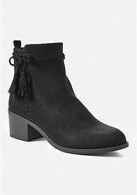 Bow Perforated Bootie