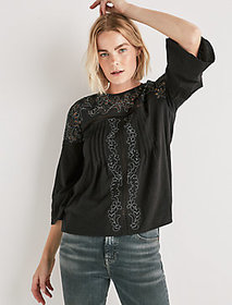 Cut Out Peasant Top