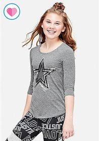 Gymnastics Flip Sequin Three Quarter Sleeve Tee