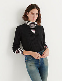 Solid Woven Drop Needle Peasant
